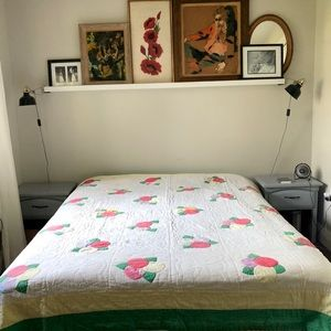 Vintage Handcrafted Queen-sized Quilt